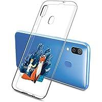 Oihxse Funda Samsung Galaxy A51/M40S, Ultra Delgado Transparente TPU Silicona Case Suave Claro Elegante Creativa Patrón Bumper Carcasa Anti-Arañazos Anti-Choque Protección Caso Cover (A5)