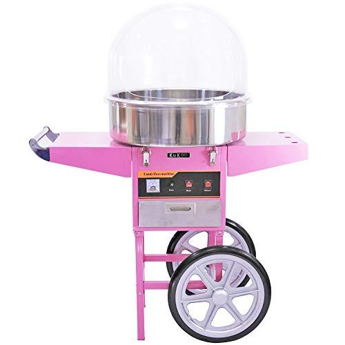 KuKoo Macchina per zucchero filato carrello e cupola protettiva