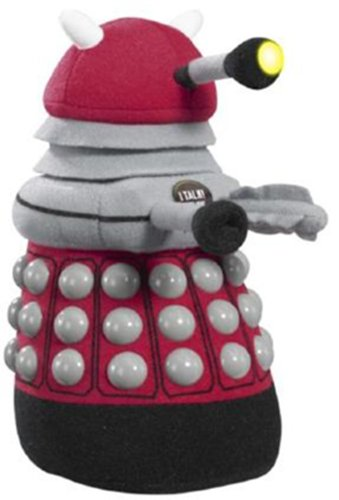 Doctor Who Dalek Talking Plush with LED Light (Medium, Burgundy)