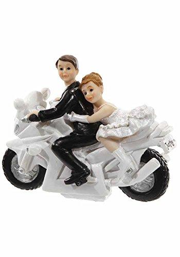 Mr.Giggelz Hochzeitsfigur - Brautpaar auf Motorrad