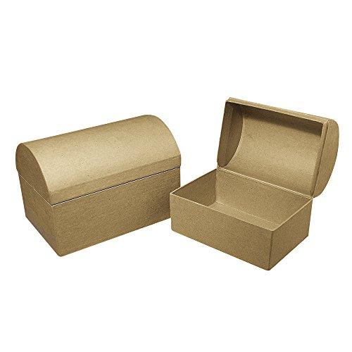 Rayher 71752000 Pappmaché Box: Truhe FSC Recycled 100%, 18x12x12,5cm