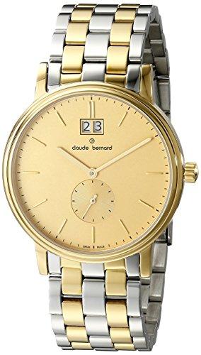 Claude Bernard Men's 64011 357J DI Classic Gents Analog Display Swiss Quartz Two Tone Watch
