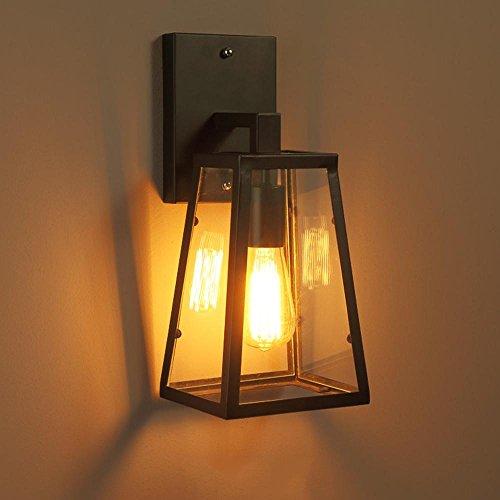 FGDJTYYJ Industrielle Wandleuchte Antiken Rahmen Wandbeleuchtung Metall Lampen Vintage Lampe Interior Home Schlafzimmer Restaurant Treppe Altmodische Licht E27 (Größe: Breite 15 cm * Höhe 38 cm) (Home Interior Rahmen, Dekorationen)