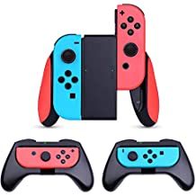 HEYSTOP Nintendo Switch Joy-Con Grip (Updated Version), [3-Pack] Wear-Resistant Game Controller Handle Case Kit for Nintendo Switch Joy-Con