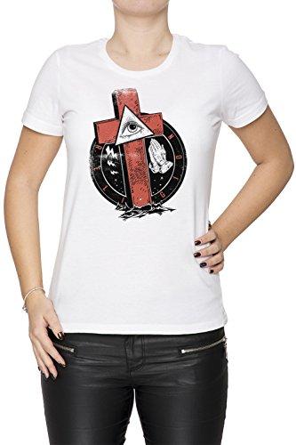Religion Donna T-shirt Bianco Cotone Girocollo Maniche Corte White Women's T-shirt