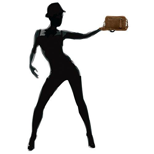 CASPAR Fashion, Borsa a tracolla donna Marrone