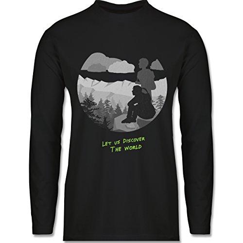 Statement Shirts - Backpacker - Longsleeve / langärmeliges T-Shirt für Herren Schwarz