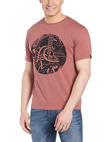 Herren T-Shirt Quiksilver Garm Dye Labyrinth Logo T-Shirt Tarmac
