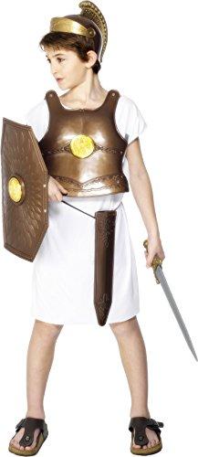 Smiffy's - Costume da soldato greco con armatura in bronzo, scudo, elmetto e spada, Bambino