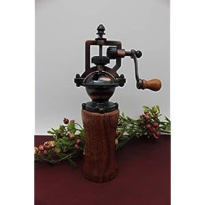 Gewürzmühle aus Holz Pfeffermühle Vintage Einstellbares Mahlwerk Handgedrechselt Unikat aus Mahagoni/Meranti