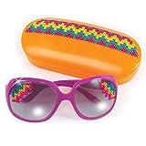 Style Me Up - Gafas de Sol para niñas, Juego DIY diseño de modas, Color Verde, Estuche turquesa - Moda para niñas - SMU-313