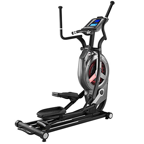 BH Fitness LK8890 CROSSHIIT Crosstrainer - Stride length 21cm - Magnetic and Air resistence - HIIT by BH Training programs - Professional equipment - G889