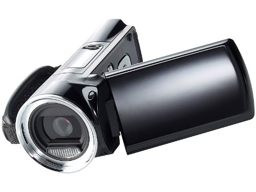 Somikon DV-812.HD Full HD-Camcorder (12 Megapixel, 8-fach dig. Zoom, 6,9 cm (2,7 Zoll) Display, HDMI, SD/SDHC-Kartenslot)