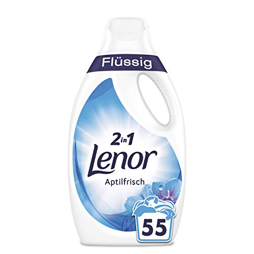 Lenor Waschmittel Flüssig Aprilfrisch 6l, 2er Pack(2 x 110 Waschladungen)