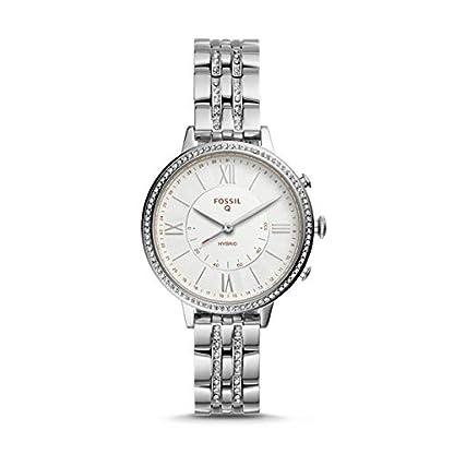 Fossil-Jacqueline-Hybrid-Smartwatch-Silber-Edelstahl-Damenuhr-FTW5033