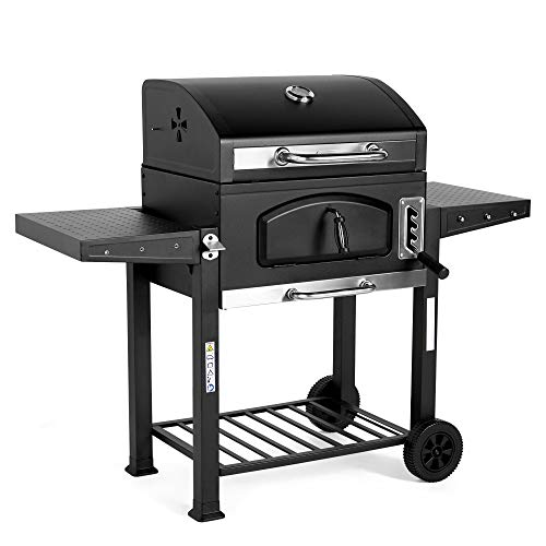 VonHaus Charcoal BBQ with 2 Side...