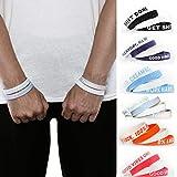 Aura Design Armband für Damen & Herren | Hellblau & Rose Quartz | Positive Mind. Positive Vibes. Positive Vibes. | Sportarmband | Silikonarmband | Fitness Armband | 4 Armbänder
