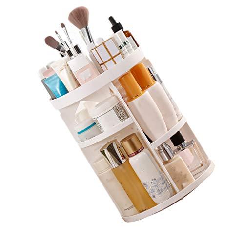 BoburyL Rotierende Makeup Organizer-Bürstenhalter Schmuck-Organisator-Fall Schmuck Lippenstift kosmetisches Aufbewahrungsbehälter-Regal