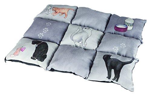 Trixie 37074 Manta Patchwork para Gatos, 45 x 55 cm, Gris
