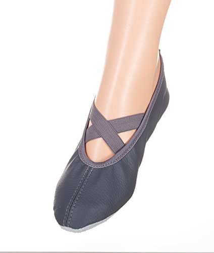 Öko - Balettschuhe YARO, Gymnastikschuhe, Turnschuhe, verschiedene Farben, Gr. 23 bis 42 23D grau