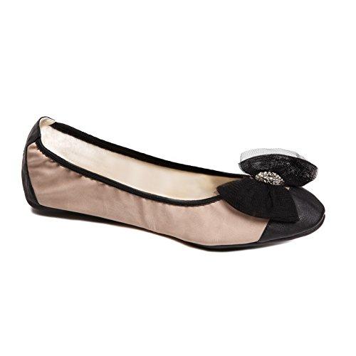 Cocorose Faltbare Schuhe - Royal Ballet Damen Ballerinas - Aurora Rosa Nude - Größe 41 (Flache Frauen Schuhe Beschränkt)
