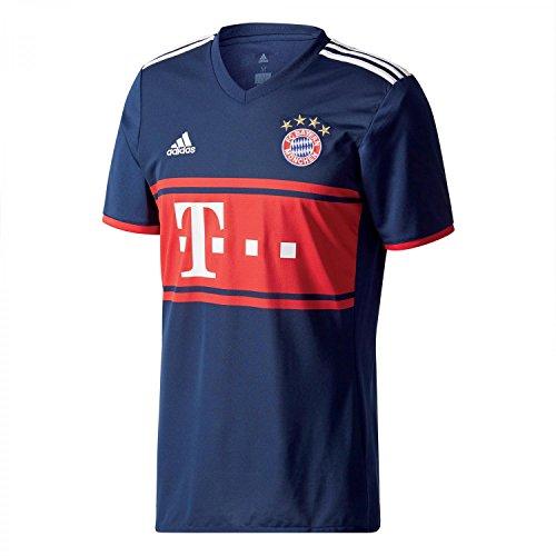 adidas Herren FC Bayern Auswärts Trikot, Collegiate Navy/Fcb True Red, L