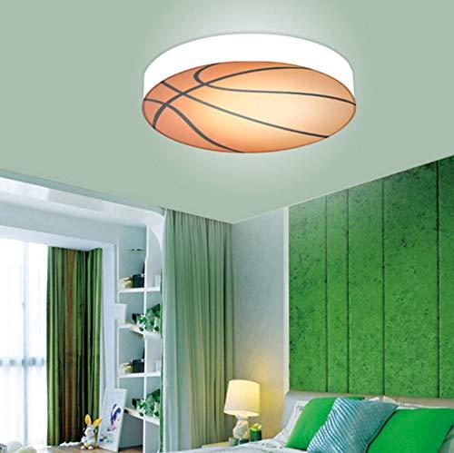 MEIJUAN Lámpara de Techo de Baloncesto para la habitación de los niños, Sala de niños y niñas Creativas Led de Techo Decorativos con diámetro de luz de 56 cm, luz Blanca