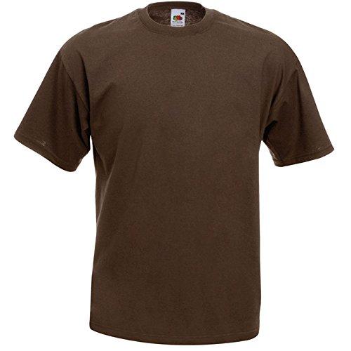 10er Pack Valueweight Fruit of the Loom T-Shirt Größe S - 5XL T-Shirts in vielen Farben XXL / 2XL,chocolate