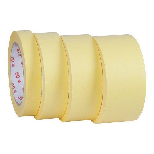 Preisvergleich Produktbild 6x Malerkrepp Abdeckband Kreppband Abklebeband Klebeband Malerband Malerbedarf 30mm x 50m Hotmelt