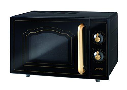Gorenje MO 4250 CLB Stand-Mikrowelle mit Grillfunktion / 700 W / Garraum 20 L / matt-schwarz / Classico Collection -