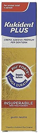 Kukident Plus Crema Adesiva Premium per Dentiera Gusto Neutro - 40 gr