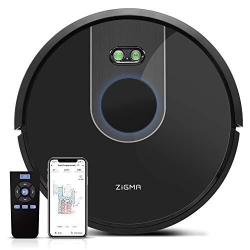 Zigma Spark Robot Aspirateur, Aspirateur Robot Laveur avec fonction d'essuyage, APP Exclusive et...