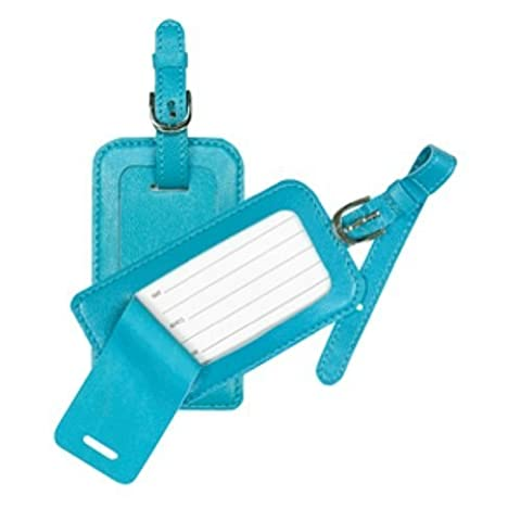 CR Gibson Luggage Tag, Marine Pebble, (Pack of 2) by CR Gibson