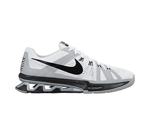 Nike Reax Lightspeed, Chaussures de Sport Homme, Noir (Schwarz) Blanc / Noir / Gris / Argenté (White/Black-Wolf Grey-Pr Pltnm)
