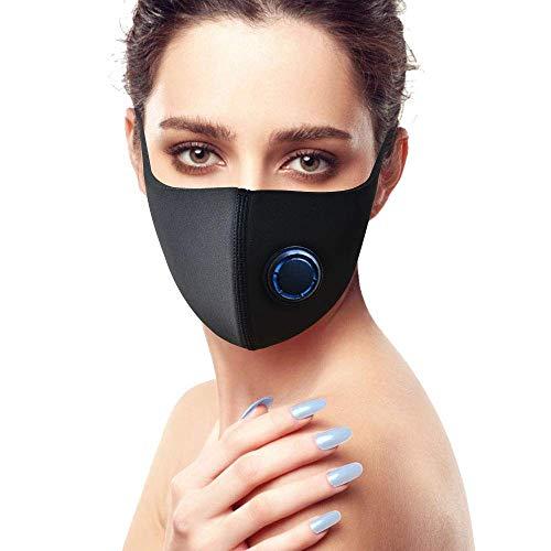 BETOWEY Mascarillas Antipolvo Negras con Filtro Mascara Boca Anticontaminacion para Antipolen, Alergia, Polvo, Gripe, Ciclismo, Deportiva