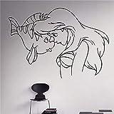 Yyoutop Comics Art Princesse Petite Sirène Ariel Decal de Vinyle Décoration de La Maison Enfants Chambre Amovible Stickers Muraux 1 42x61 cm