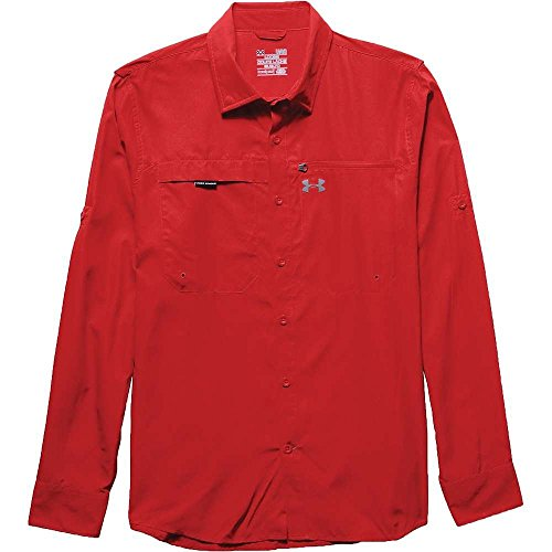 Under Armour Herren Fisch Stalker Lange Ärmel Medium Risk Red / Steel (Under Fisch Armour)