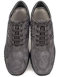 Hogan Sneakers Donna HXW00N0S3609KEB800 Camoscio Grigio 04f24371307
