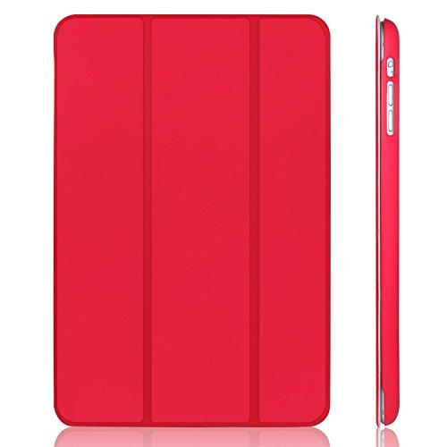 JETech Hülle für iPad Mini 3 iPad Mini 2 iPad Mini, Schutzhülle mit Ständer Funktion & Auto Einschlafen/Aufwachen, Rot