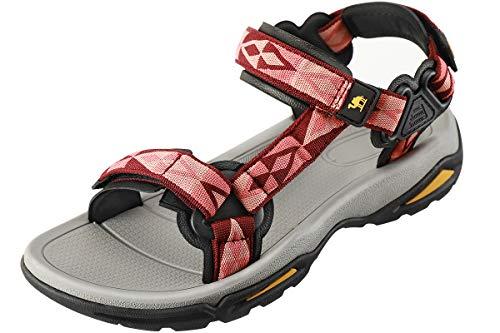 CAMEL CROWN Damen Sport-& Outdoor Sandalen Sommerschuhe Flach Frauen Sneaker Strand Beach Atmungsaktiv Wandern Sandalen Walkingschuhe Trekking-& Wandersandalen
