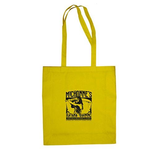 Michonne's Katana Training - Stofftasche / Beutel Gelb