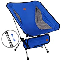 Awenia Outdoor Camping Chair, 2019 Newest Portable Lightweight Folding Beach Chair with Carry Bag, Adjustable Height and Easy to Install, Heavy Duty 330lb Capacity For Hiker, Camping, Beach