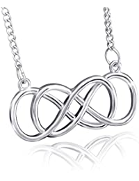 TBOP NECKLACE European And American Fashion Explosion Models Jewellary Double 8 Alloy Necklace In Silver Color