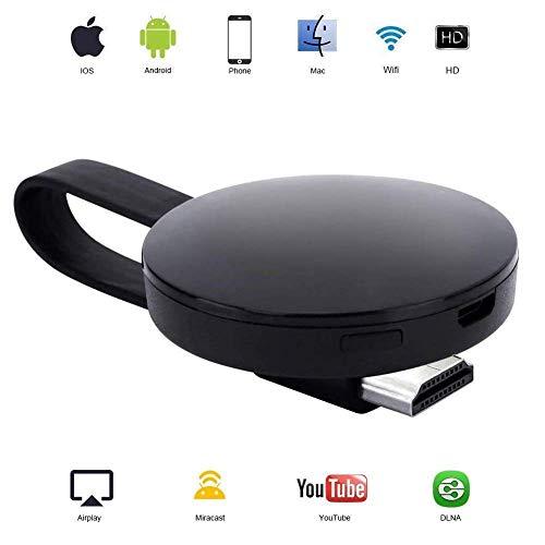 ATETION WiFi Wireless Display Dongle 1080P Mini-Receiver, der HD-Videos von Projektoren überträgt Handys Tablet PC-Unterstützung Airplay Miracast Dongle (Dongle / Video-receiver)