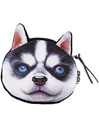 f244e537c8620 Chinget Niedlich Hund Form Mit Lanyard Geldbörse Geldtasche Polyester  Geldbeutel Münzen Beutel Portmonee (Sibirischer…