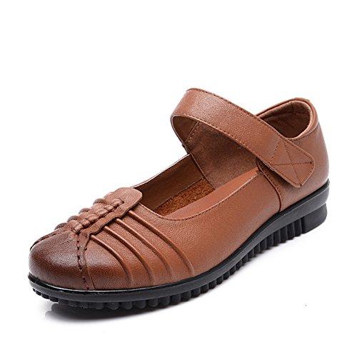 De vent national Women's shoes/Chaussures à semelle souple/ Maman bottes éolienne nationale/Chaussures de femmes d'âge mûr/ vintage chaussures plates A