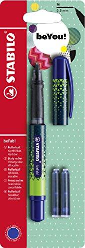 Tintenroller - STABILO beFab! URBAN SPORTIVE in blau - inkl. 3 Patronen