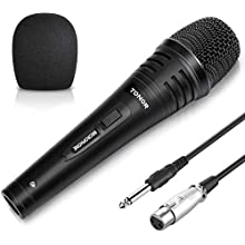 TONOR Dynamic Karaoke Microphone for Singing with 5.0m XLR Cable, Metal Handheld Mic Compatible with Karaoke Machine/Speaker/Amp/Mixer for Karaoke Singing, Speech, Wedding, Stage and Outdoor Activity