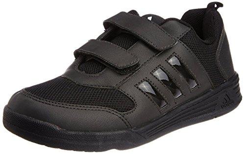 Adidas boys Flo Black Running Shoes -10 kids UK