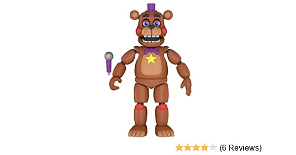 Glow in The Dark Translucent Collectible Toy Friday Night at Freddys Pizza SIM Funko 45637 Action Figure Rockstar Freddy Multicolour